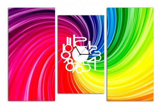 Картина-часы Цветная Абстракция